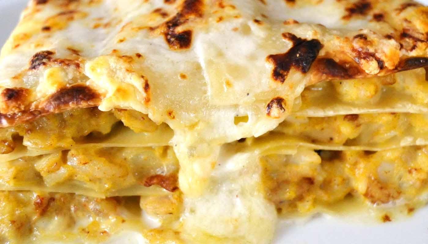 Receta de lasaña de pescado y mariscos - recetas de lasañas y canelones - recetas de pasta - recetas realfooding o real food