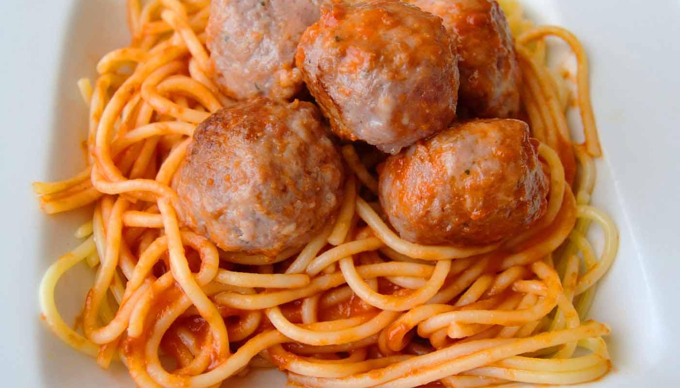 Receta de espaguetis con albóndigas caseras - recetas de pasta - recetas realfooding o real food