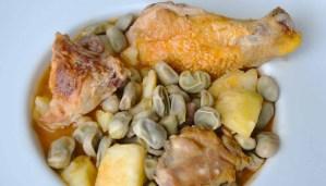 Receta de guiso de habas con pollo y patatas - recetas de habas - recetas de pollo - recetas realfooding o real food