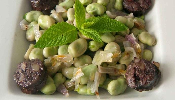 Receta de habas a la menta - recetas de habas - recetas de legumbres - recetas realfooding o real food
