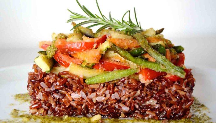 Receta de verduras enharinadas con arroz salvaje - recetas de verduras c-recetas de arroces - recetas realfooding o real food
