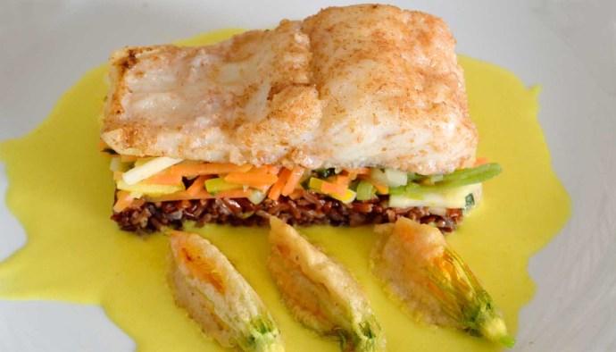 receta de bacalao con flores de calabaza en tempura - recetas con bacalao - recetas con flores - recetas con calabaza - recetas realfoodin o real food