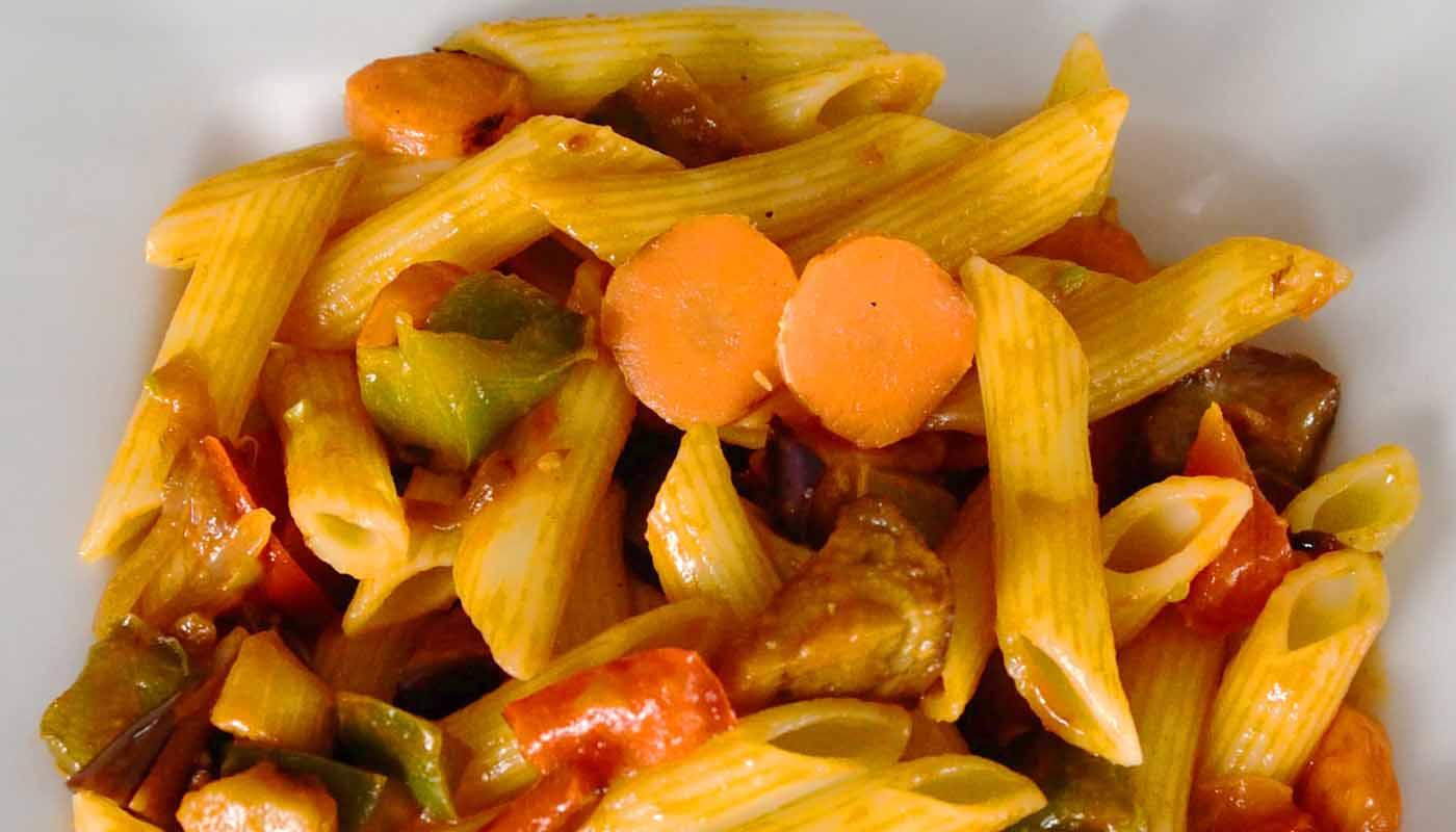 Receta de pasta con verdura guisada - recetas de pasta - recetas realfooding o real food