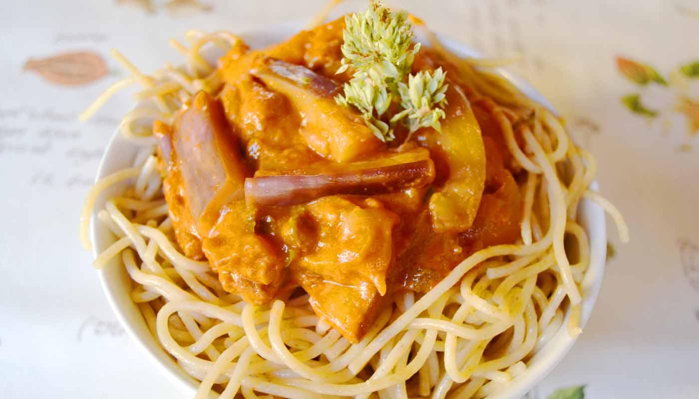Receta de pasta con berenjenas y tomate - recetas de pasta - recetas realfooding o real food