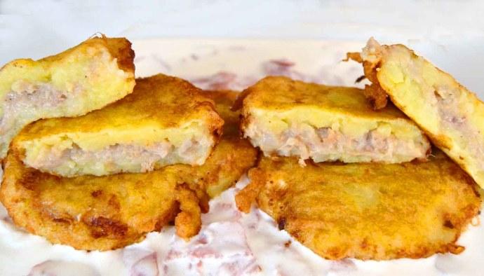 Recetas de patatas rellenas estilo Olot - recetas de patatas fritas - recetas realfooding o real food