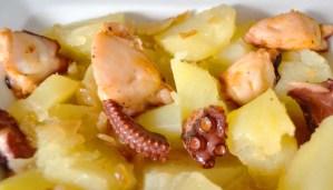 Receta de patatas guisadas con pulpo - recetas de patatas - recetas realfooding o real food