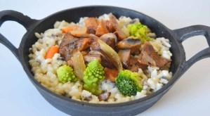 Receta de risotto vegano de setas, calabaza y coliflor - recetas vegetarianas y veganas