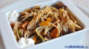 Receta vegana de fideuá de verduras - recetas de pasta - recetas de fideos - recetas vegetarianas y veganas
