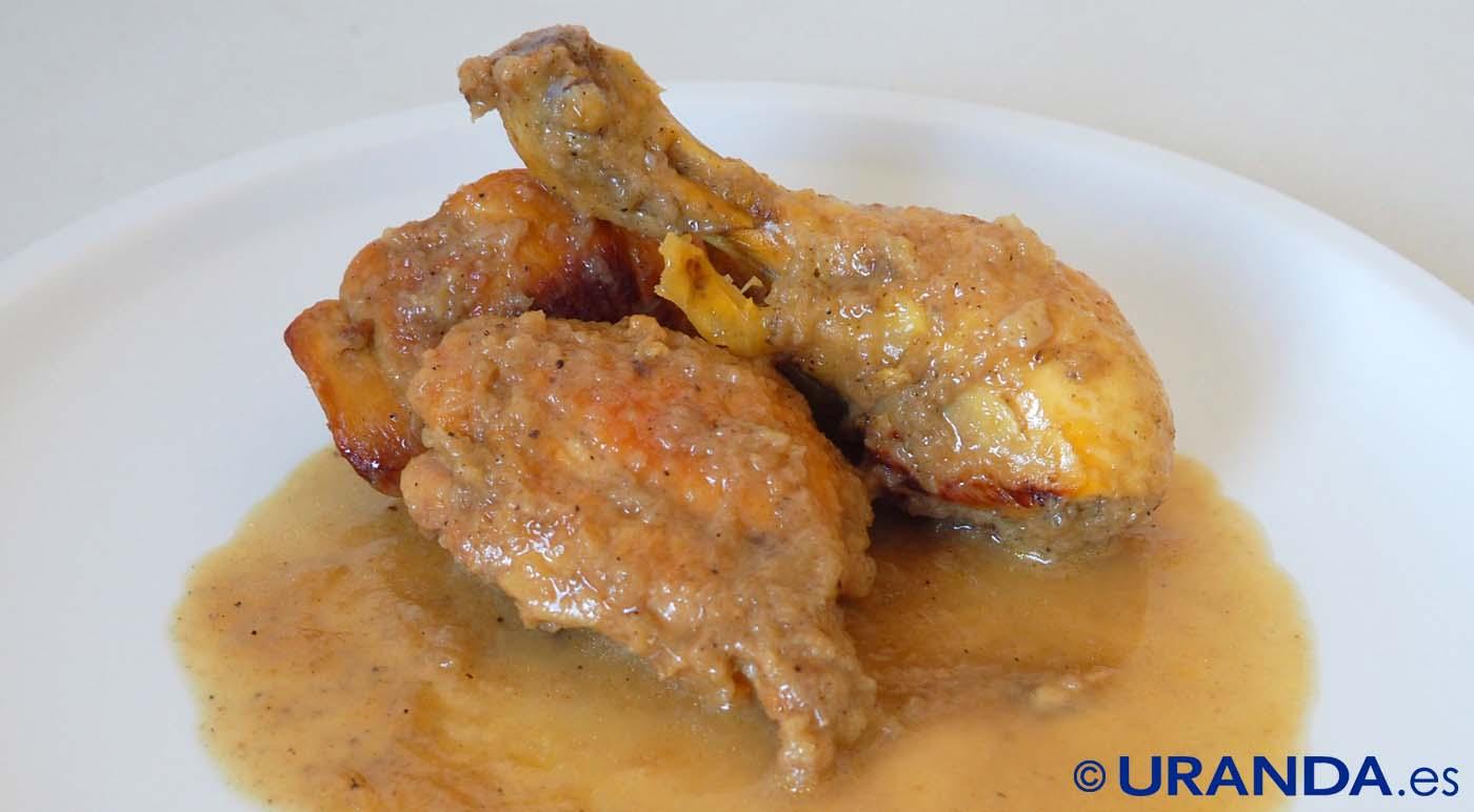 Receta de pollo guisado a la cerveza - recetas de pollo guisado - recetas realfooding o real food