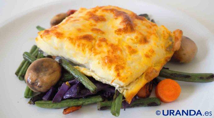Receta de bacalao con muselina de ajo - recetas con bacalao - recetas de pescado y marisco - recetas realfooding o real food
