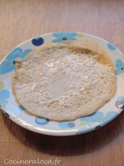 Kallappam avec sucre et lait de coco