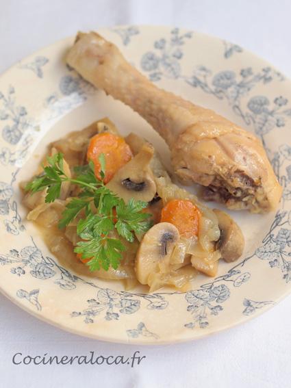 Poulet et légumes d'hiver cuits à l'étouffée