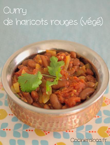 Curry de haricots rouges ©cocineraloca.fr