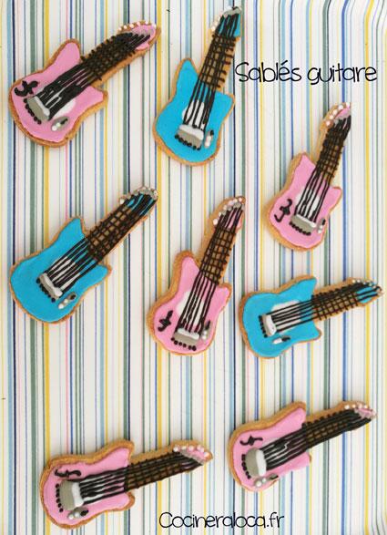Sablés guitare décorés