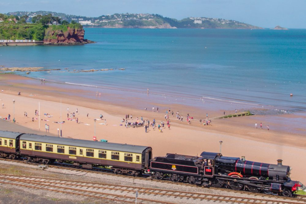 Goodrington beach & Dartmouth Steam Railway
