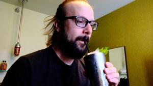 Dusting Elliott Drinking a Mojito Mocktail