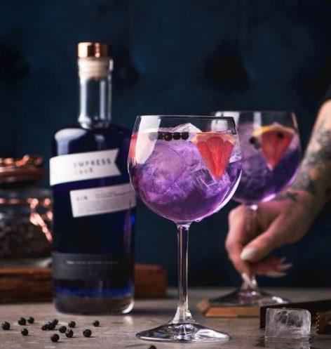 琴酒調酒-紫色琴通寧