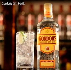 Коктейль Gordon's Gin-tonic. Коктейли с джином