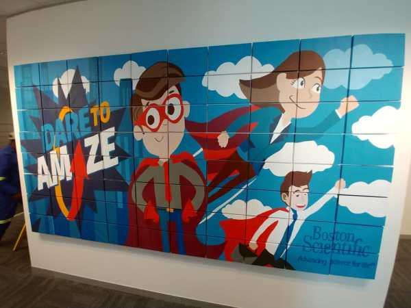 Team building company Mural painting - Boston Scientific