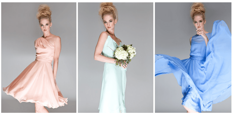Joanna August one shoulder bridesmaid dress, Joanna August bias cut bridesmaids dress,