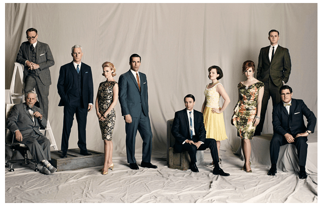mad men vintage style wedding