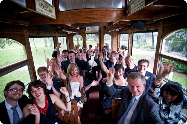 St. Simons Trolley for Weddings