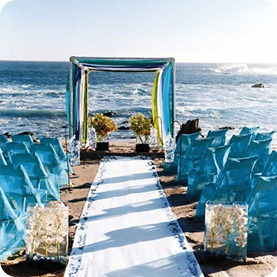 Outdoor Destination wedding ceremony on the beach