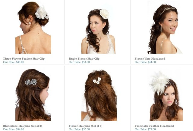 bridal hair accessories for weddings