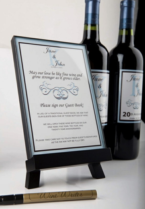 Guestbook Wine Bottle for Weddings