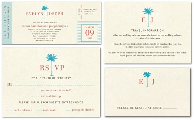 Destination Wedding Invitations from Wedding Paper Divas