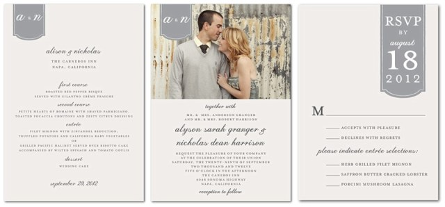 Photo Wedding Invitation from Wedding Paper Divas