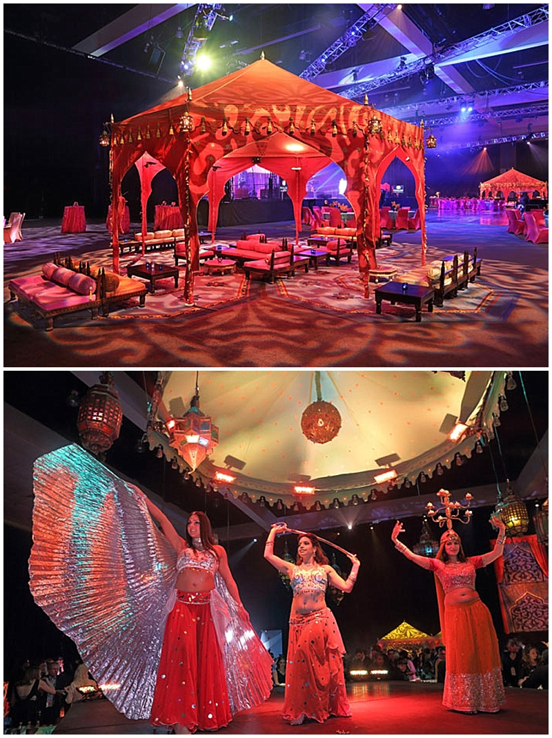 belly dancers for wedding with themed tent