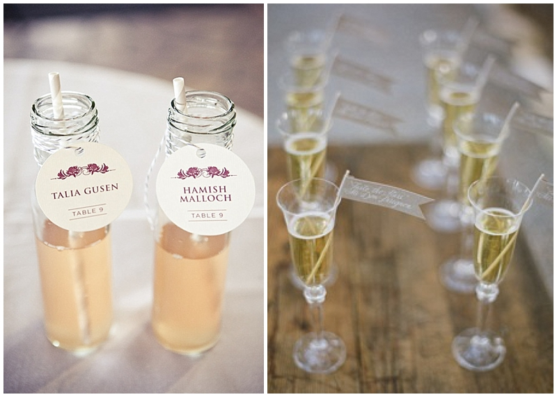 escort cocktails instead of escort cards for weddings