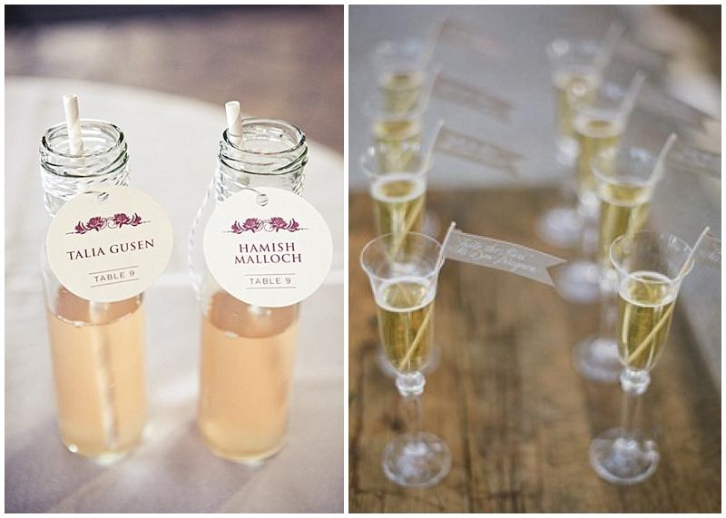 escort cocktails instead of escort cards for weddings