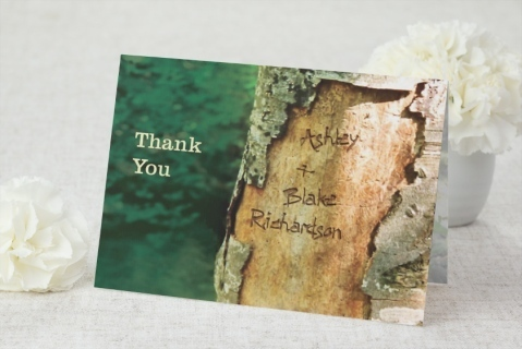 Natural Rustic Outdoors Thank You Card