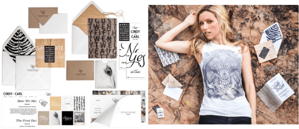 Prana Collection Bliss & Bone Invitations