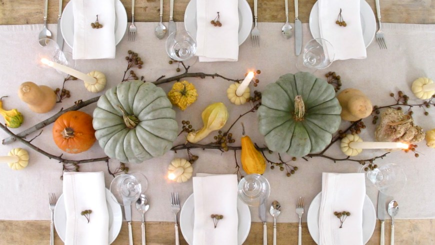 fall entertaining dinner decoration ideas