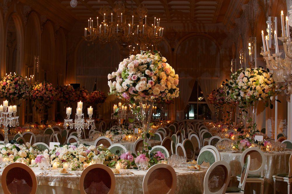 Classy wedding setting