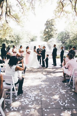 Forsyth Park Fountain Wedding Savannah Georgia