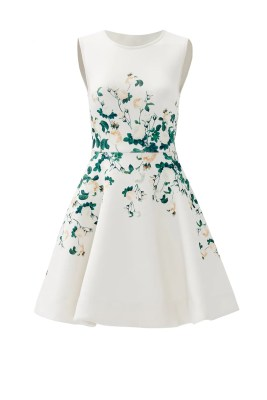 rehearsal dinner dress designer white floral