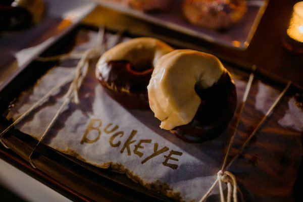 Buckeyes were one of the custom flavor donuts at a Westin Jekyll Island wedding reception