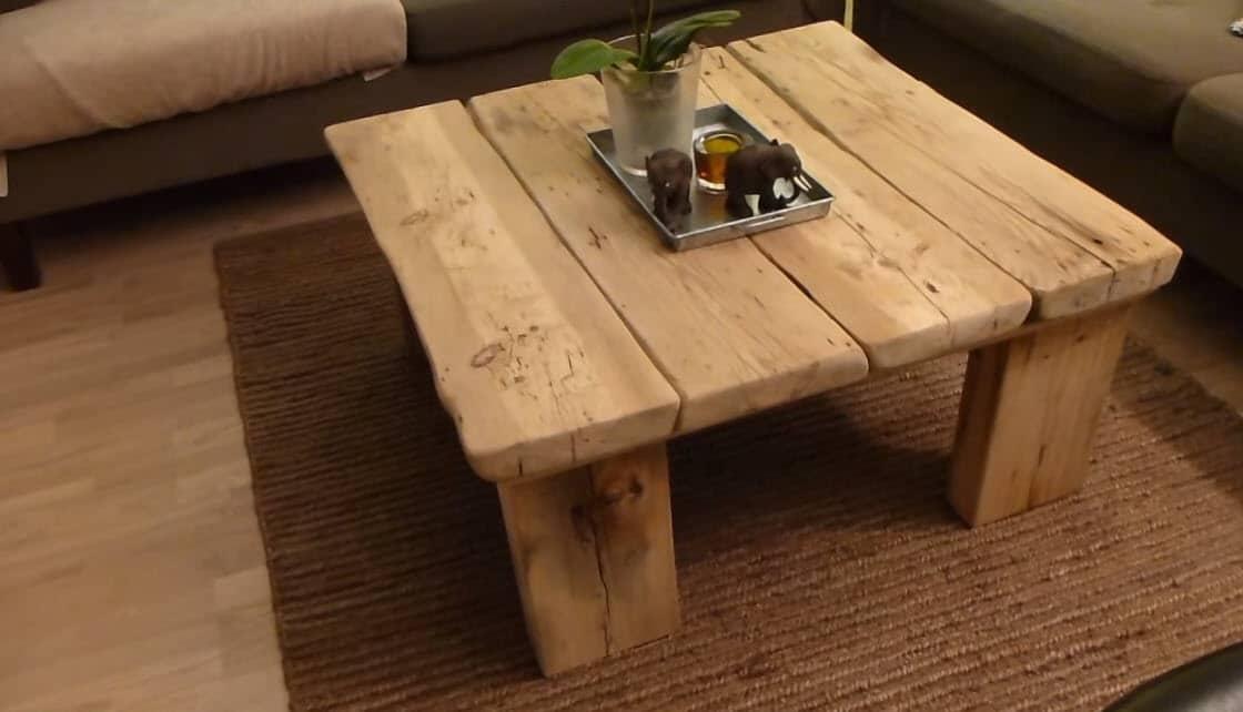 طريقة عمل طاولة انيقة من خشب مستعمل