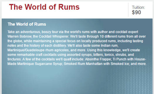 world of rums
