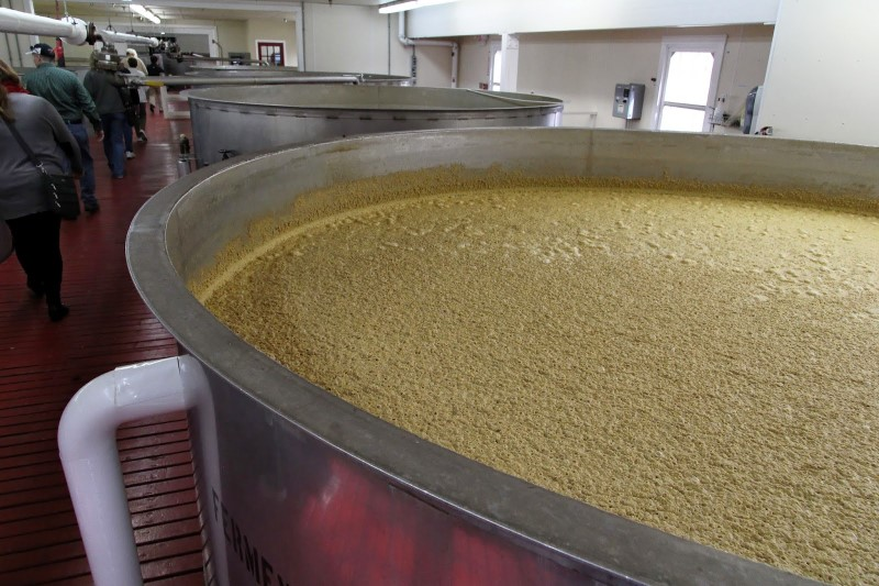Maker's Mark distillery fermentation