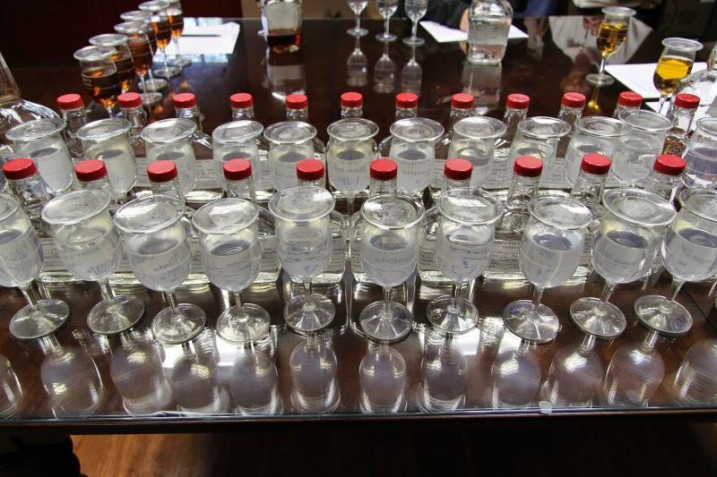 Maker's Mark distillery tasting glasses