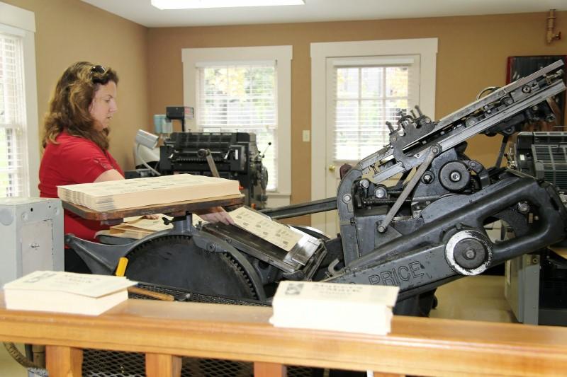 Maker's Mark distillery printing press
