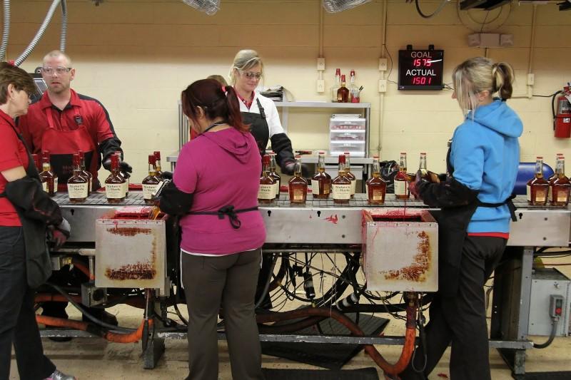 Maker's Mark distillery wax line