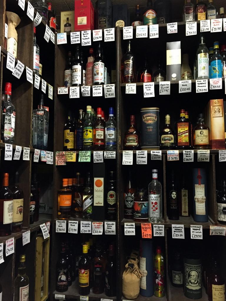 The rum-wonderland at Gerry's Wine & Spirits, London