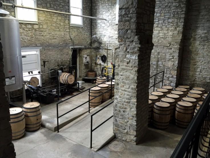 Woodford Reserve barrel filling