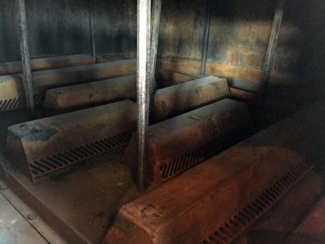 Column still interior at Wild Turkey Distillery visitor's center.